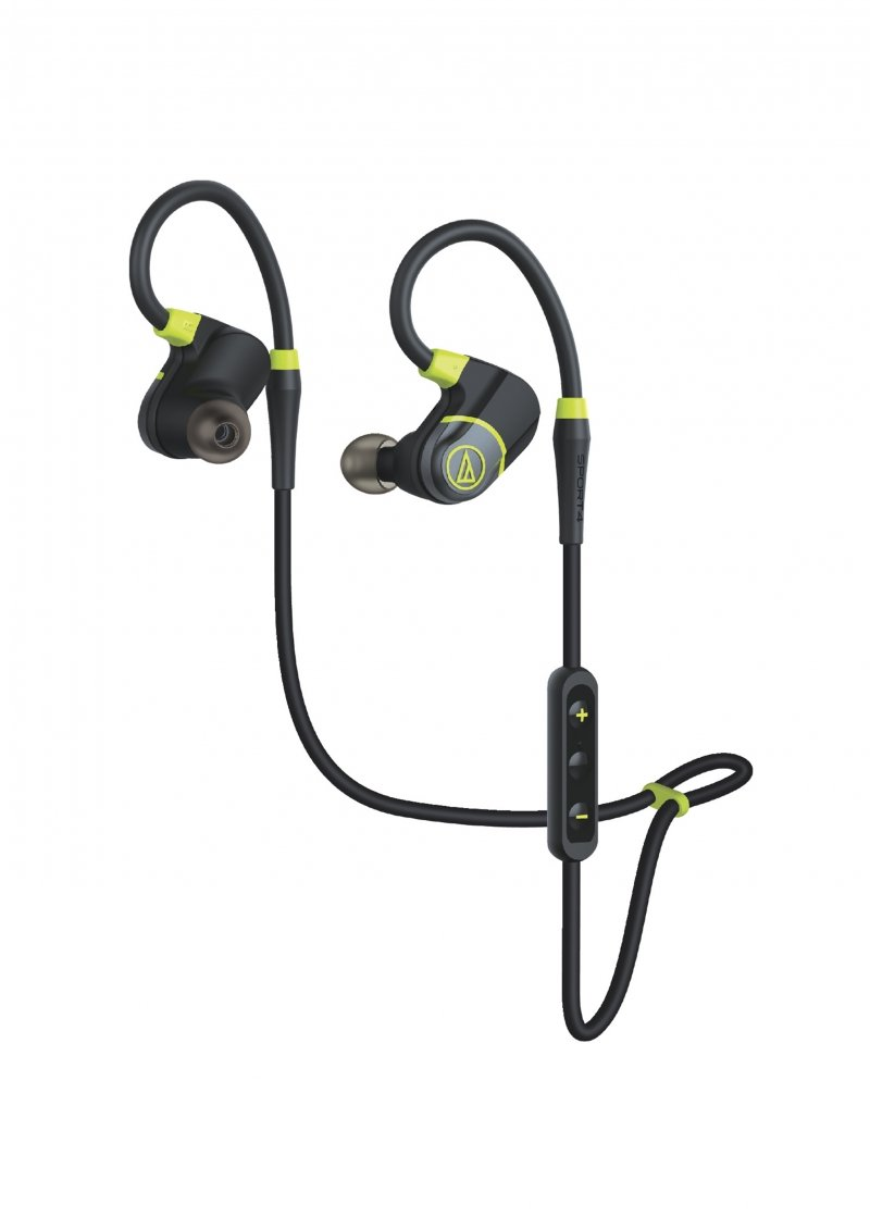 Image of Audio-Technica ATH-SPORT4BK SonicSport Bluetooth Wireless In-Ear Headphones