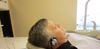 Man wearing a Surgical Headphones