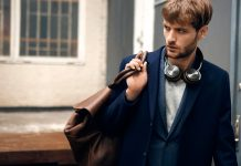 image of man wearing a stylish headphone