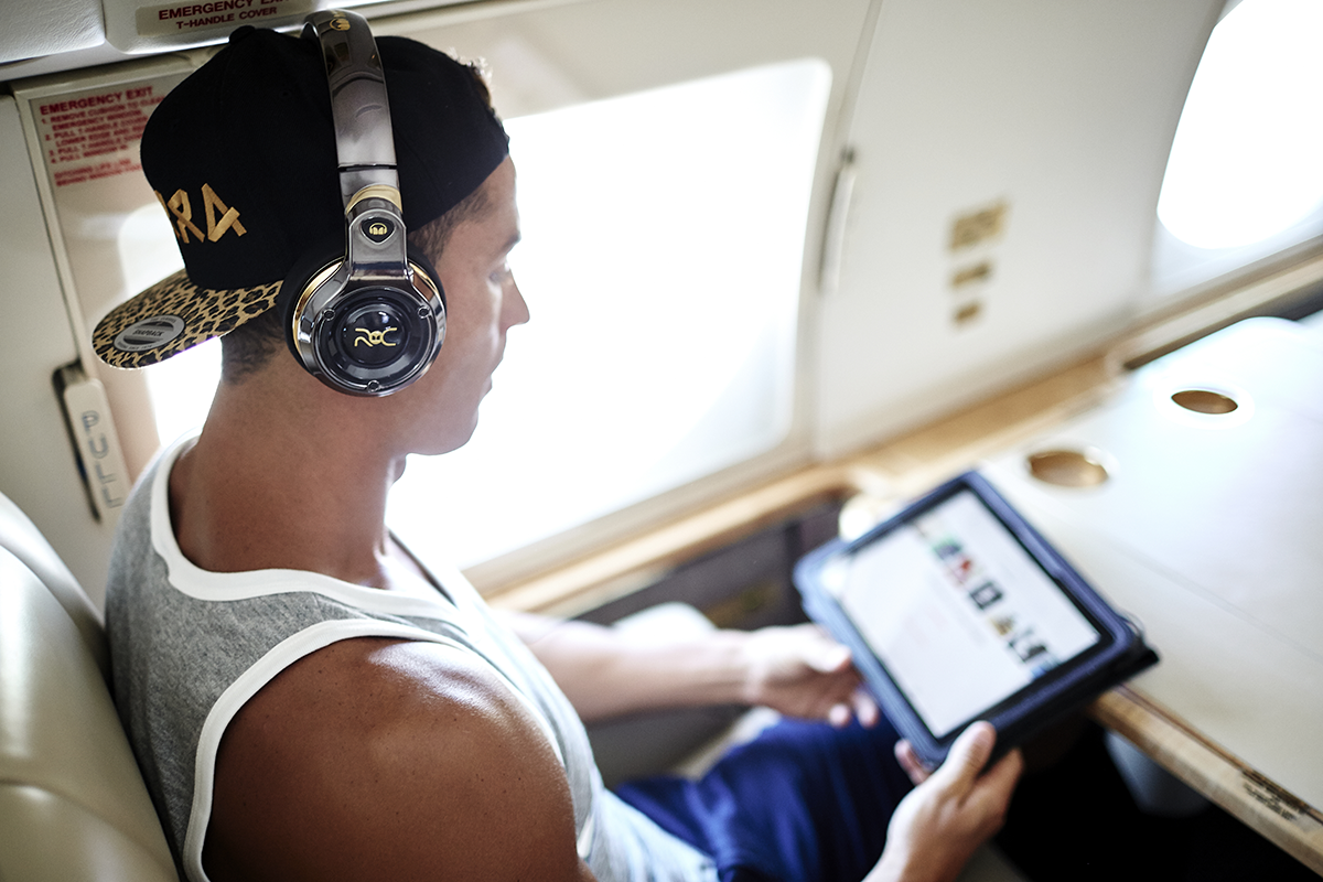 image of CristianoRonaldo wearing Monster's ROC Sports Freedom On-Ear Wireless Bluetooth Headphone