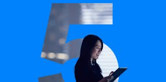image of a woman using bluetooth 5