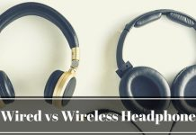 image of wired and wireless headphone
