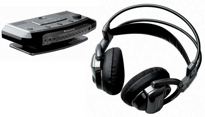image of Pioneer's SE-DIR800C Infrared Wireless Surround Sound Headphone
