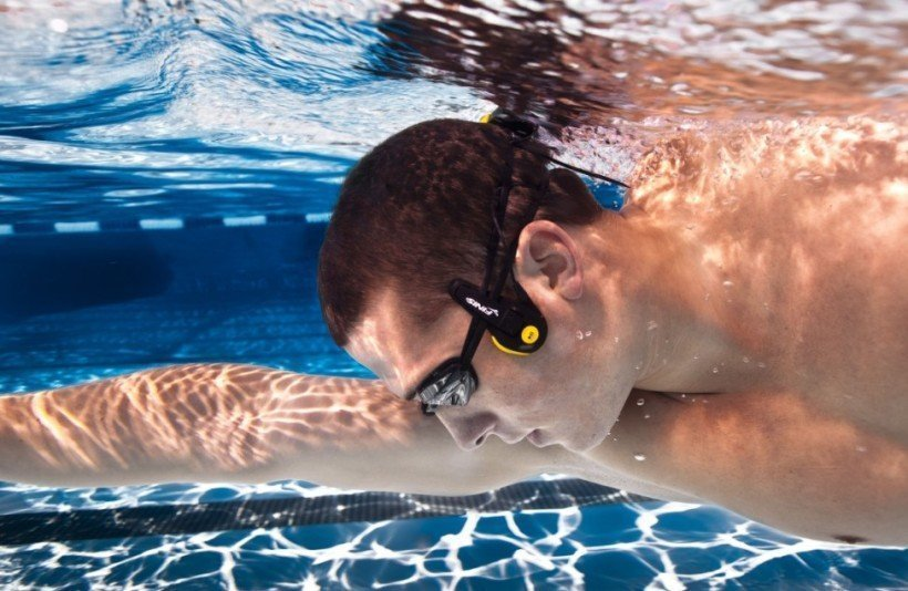 image of wireless headphone for swimming